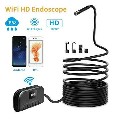 WIFI Endoscope 2MP 8mm 3-500cm Focal Car Pipe Inspection Camera for Android IOS
