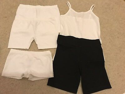 5 All NEW Pieces 6-8 Yrs Girls M&S F&F French Knickers Vest PE Shorts