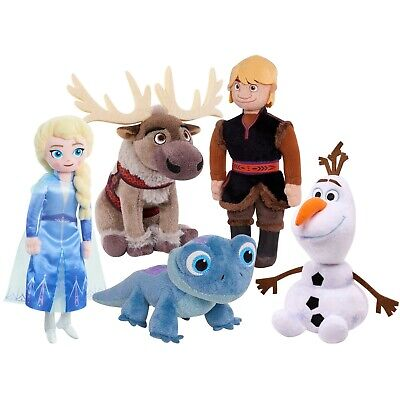 Disney Frozen 2 Blue Salamander+Elsa+Olaf+Kristoff+Sven 5pc Plush Collection