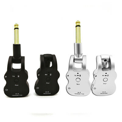 Wireless Guitar System 2.4G UHF Audio Transmitter & Receiver Rechargeable X0D8
