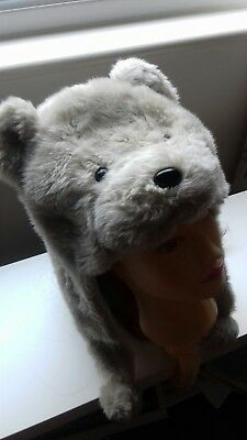 Girls All in one bear style hat - one size