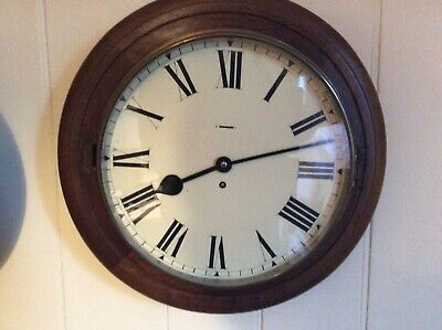 "Coventry Astral Wall Clock, 13"" Dial, 17"" Wooden Bezel."