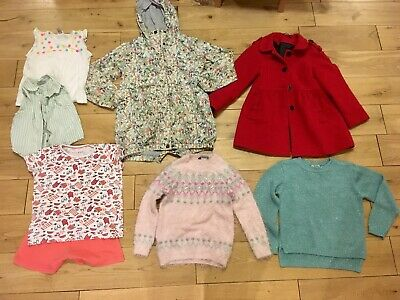 Girls 7-8 Years Bundle Next Floral Rain Coat Winter Jumper Pyjamas Monsoon Top