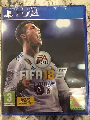 PS4 FIFA 18 Video Game - Never opened, brand new in shrink wrap