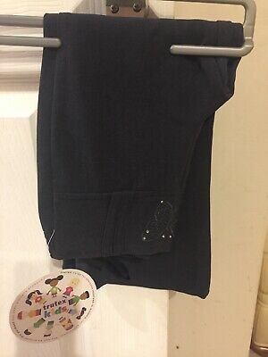 BNWT Girls School Uniform Navy Trutex Trousers Age 3 Years