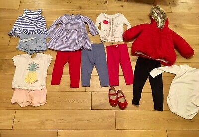 Girls Age 2-3 Years Bundle Next Red Winter Coat GAP top Leggings Dress Shoes Sz6