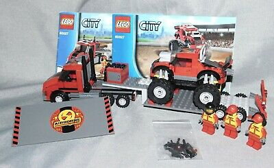 Lego City Set 60027 Monster Truck Transporter with Minifigures & Instructions