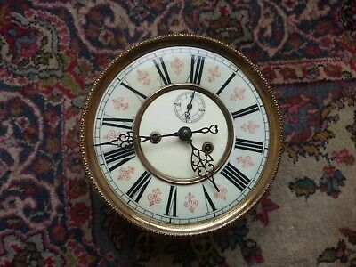 A. W. & Co Freiburg Twin Weight Vienna Clock Dial And Movement Number 13035