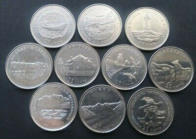 LOT OF 4 CANADA AU 1992 25 CENTS 125th ANNIVERSARY YOUR CHOICE OF ANY 4 QUARTERS