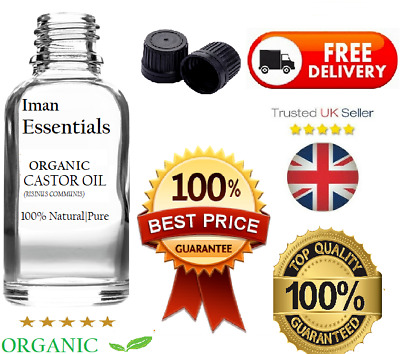 Organic Castor Oil 100% Cold Pressed Undiluted,Certified, Premium Quality