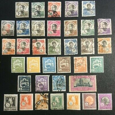 French Indo China Collection Of Old Stamps, 1919-27