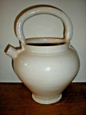 Watering Can Jug Pottery Vintage Italy Plant Water Pot