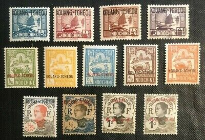 French Offices In China Collection Of Old Stamps