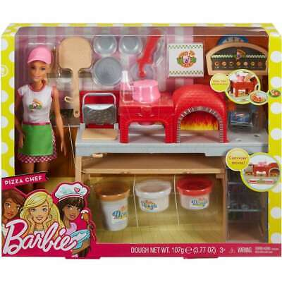Mattel Barbie Pizza Chef Doll and Playset (FHR09) - NEW