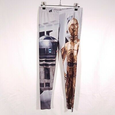 Black Milk Tights Size L 10-12 Star Wars Artoo R2D2 C3P0 Mandalorian Yoda