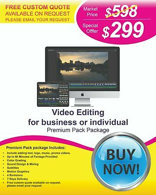 $299 - Professional Video Editing Services