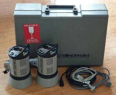 2x Elinchrom 250 Professional  Studio Flash Light