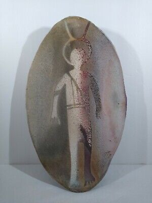 Abstract Signed Studio Pottery Art Wall Decor Figure Alien Angel Monster Mystery