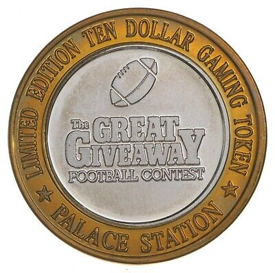 .999 Silver Palace Station Casino Chip LTD ED $10 Token Approx .60 T Oz ASW *786