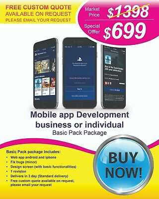 $735 for Mobile Application Development.