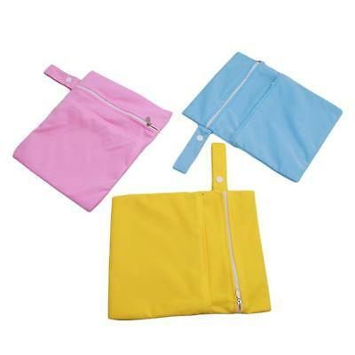 Hot Waterproof Zip Wet Dry Bag for Baby Cloth Diaper Nappy Pouch Reusable L