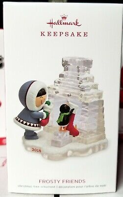 2018 HALLMARK KEEPSAKE ORNAMENT FROSTY FRIENDS 39th IN THE SERIES