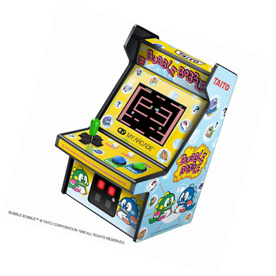 My Arcade Micro Player Mini Machine: Bubble Bobble Video Game, Fully Playable, 6