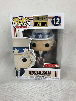 FUNKO POP! #12 Uncle Sam American History ICONS Target Exclusive 2019 NEW