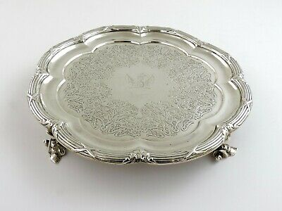 PAUL STORR Stunning quality SILVER SALVER, London 1837, WAITER TRAY crested