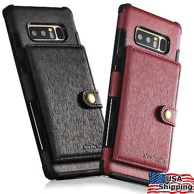 For Galaxy NOTE 8 9 10 S9 S10 S20 Ultra Plus Slim Leather Wallet Case Card Cover