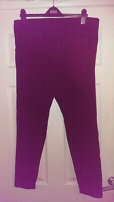 Ladies black leggings new look curves size 20 good condition short length