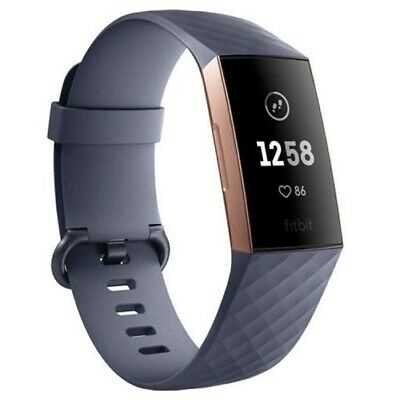 Fitbit Charge 3 - Blue Grey/Rose Gold Aluminium