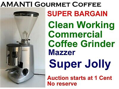 BARGAIN Clean Working Mazzer Super Jolly Commercial Coffee Grinder +Bonus AMANTI