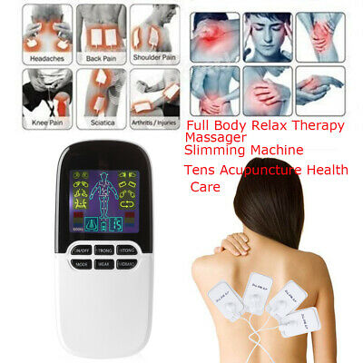 Tens Unit Machine Acupuncture Electric Pulse Massager Full B Muscle Stimulator