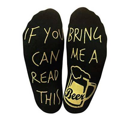 Christmas If You Can Read This Bring Me a Beer Sock Womens Mens Funny Socks #UK