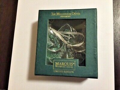 NEW THE MILLENNIUM DOVES ORNAMENT By Marquis Waterford Crystal - Limited Edition