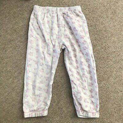 girls 3-4 years White Floral Pyjama Bottoms From Primark