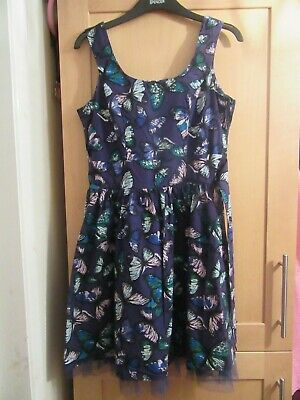KYLIE M&Co.GIRLS AGE 13 YEARS + PURPLE BUTTERFLY DRESS