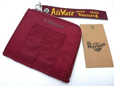 Genuine DR. MARTENS Cherry Red Zipped WALLET Notes Coins Key etc AirWair  New