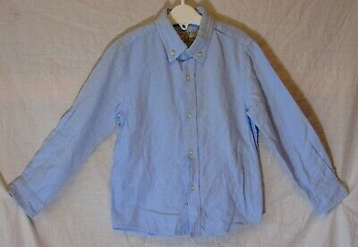 Boys Zara Premium Plain Light Blue Smart Casual Long Sleeve Shirt Age 3-4 Years