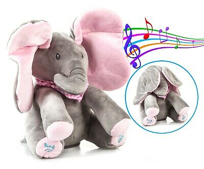 Peek-a-Boo Animated Talking Singing Elephant Plush Stuffed Child Toy Gift USA