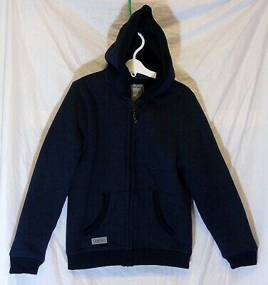 Boys Next Dark Blue Furry Fleece Lined Hooded Winter Jacket Coat Age 10 Years