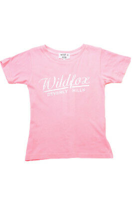 Wildfox Kid's Girls Short Sleeve Top Pink Size 12 RRP 30£ BCF712