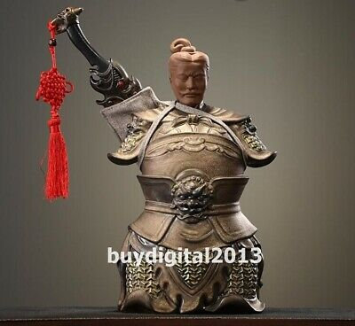 porcelain pottery colour ceramic glaze Qin Dynasty Figures soldier sculpture