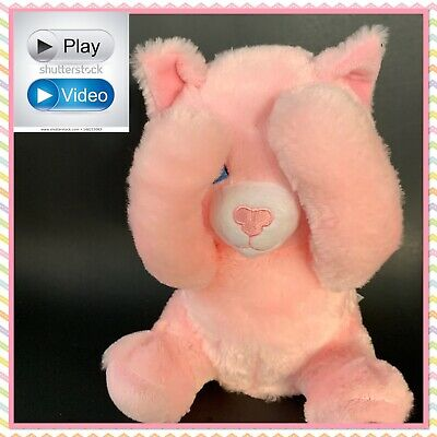 Baby Animated Peek a Boo Pink Teddy Bear Plush Animal Talks Giggles WATCH VIDEO