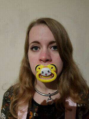 Adult Pacifier Soother Dummy from the dotty diaper company Blue Whale design
