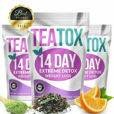 Pure Natural Detox Tea 14 Days Colon Cleanse Fat Burn Weight Loss Tea Skinny Fit