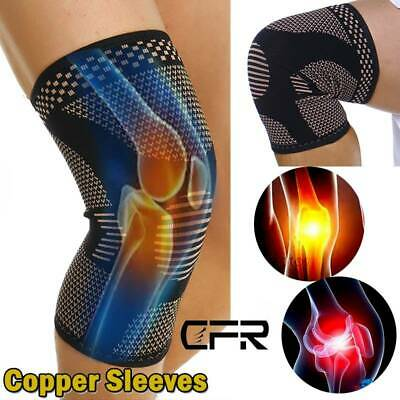 Knee Sleeve Compression Brace Support Sport Joint Injury Pain Arthritis Copper O