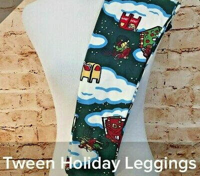 LuLaRoe Size Tween Holiday Christmas Gingerbread House Mailbox Leggings NWT