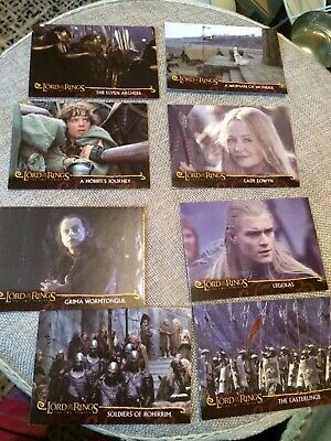 Lord Of The Rings The Two Towers Topps Trading Cards X8